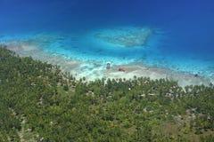 Atollo pacifico Rangiroa fotografie stock libere da diritti