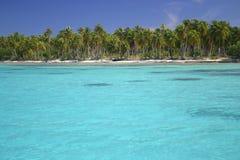 Atollo Rangiroa in Polinesia francese Immagini Stock Libere da Diritti