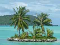 Atollo tropicale della Tahiti dell'isola Fotografie Stock Libere da Diritti