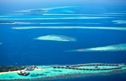 Atolls des Maldives Photo stock