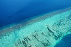Atolls and islands in Maldives from aerial view Stock Image