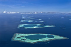 atolls maldives Arkivbilder
