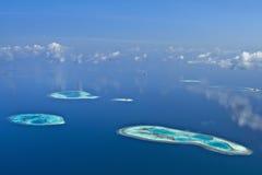 Atolones de Maldives Imagenes de archivo