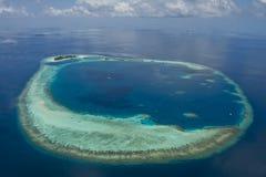Atolones de Maldives Fotos de archivo libres de regalías