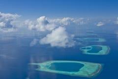Atolones de Maldives Fotografía de archivo libre de regalías