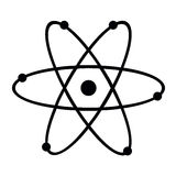 Atom. Vector illustrated of an atom Royalty Free Stock Photography