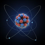 Atom. Model - nucleus with electrons Royalty Free Stock Photo
