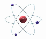 Atom. Abstract atom representation; 3d render Stock Images