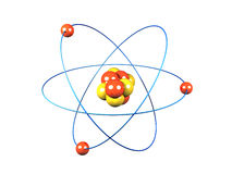 Atom. A 3d image of atom. Isolated on white Stock Photography
