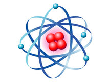 Atom. Illustration of the symbol of the atom Stock Photos