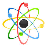 Atom. Model of atom with a kernel. A  illustration Royalty Free Stock Photo