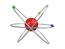 Atom 3d. Orbital atom isolated on a white background (3d render&#x29 Royalty Free Stock Image