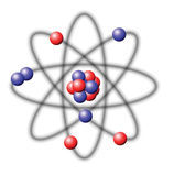 Atom. Illustration on a white background Royalty Free Stock Photos