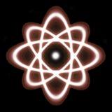 Atom. Ic visualization, isolated on black Royalty Free Stock Photo