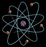 Atom. Graphic representation of an atom Royalty Free Stock Photo