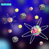 1 atom royalty ilustracja