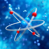 Atom abstract background Royalty Free Stock Image