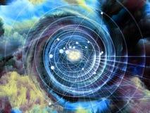 Atom Abstraction ilustração do vetor