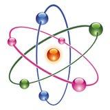 Atom abstrakcjonistyczna ikona Zdjęcie Royalty Free