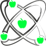 Atom apple Stock Photo