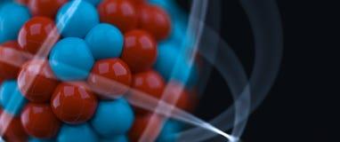 Atom. Illustration over black background Stock Images