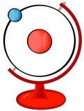 Atom auf Bildschirmanzeige stock abbildung