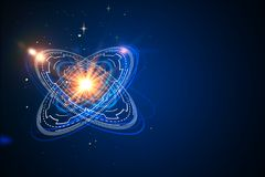 Atom backdrop. Abstract atom backdrop. Science concept. 3D Rendering Stock Photography