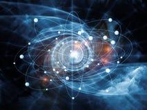 Atom Background Royalty Free Stock Photography