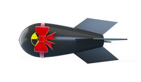 Atom bomb gift. On a white background Royalty Free Stock Photography