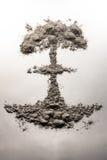 Atom bomb mushroom cloud made of ash Royalty Free Stock Images