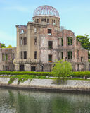 Atom- bombardera kupolen i Hiroshima fredminnesmärke parkerar. Unesco. Japan Royaltyfria Bilder