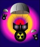 atom- bombarderar Arkivfoton