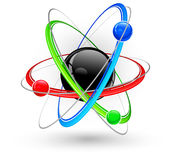 Atom color symbol Royalty Free Stock Image