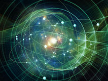 Atom Composition Royalty-vrije Stock Fotografie