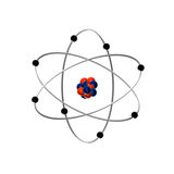 Atom. The created illustration of atomic picture Stock Photography
