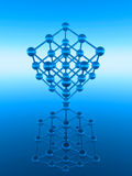 Atom cube Stock Images