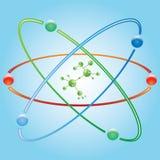 Atom część na błękitnym tle. Obraz Royalty Free