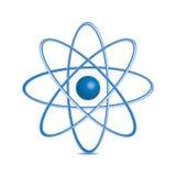 Atom część na białym bakground. Zdjęcia Royalty Free