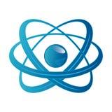 Atom część na białym tle. Fotografia Stock