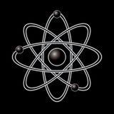Atom część na czarnym tle. Zdjęcia Stock