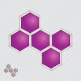 Atom część na tekstury tle. Obraz Stock