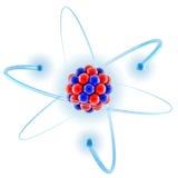 Atom 3d illustration. On white vector illustration