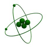 Atom des Helium-3d im grünen Gras Stockbilder