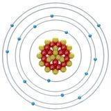 Atom des Phosphors (Isotop) auf einem weißen Hintergrund Lizenzfreies Stockfoto