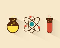 Atom design. Atom graphic design , vector illustration Royalty Free Stock Photography