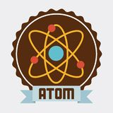 Atom design. Atom graphic design , vector illustration Stock Photos