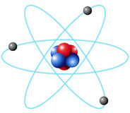 Atom diagram in large scale Royalty Free Stock Image