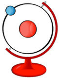 Atom on display stock illustration
