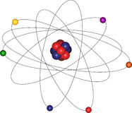 Atom with electron orbit Royalty Free Stock Photography