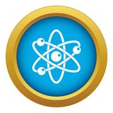 Atom with electrons icon blue vector isolated. On white background for any design stock illustration